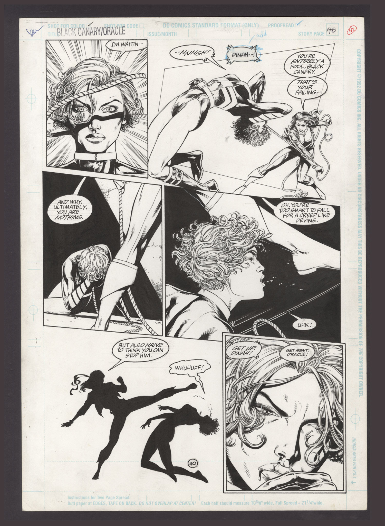 Comicconnect John Dell Black Canary Oracle Birds Of Prey 1996 1 Interior Page Vf 8 0